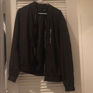H AND M MENS BOMBER JACKET OLIVE GREEN